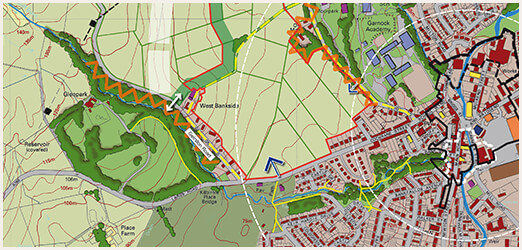Resited development, North Ayrshire - Site analysis plan
