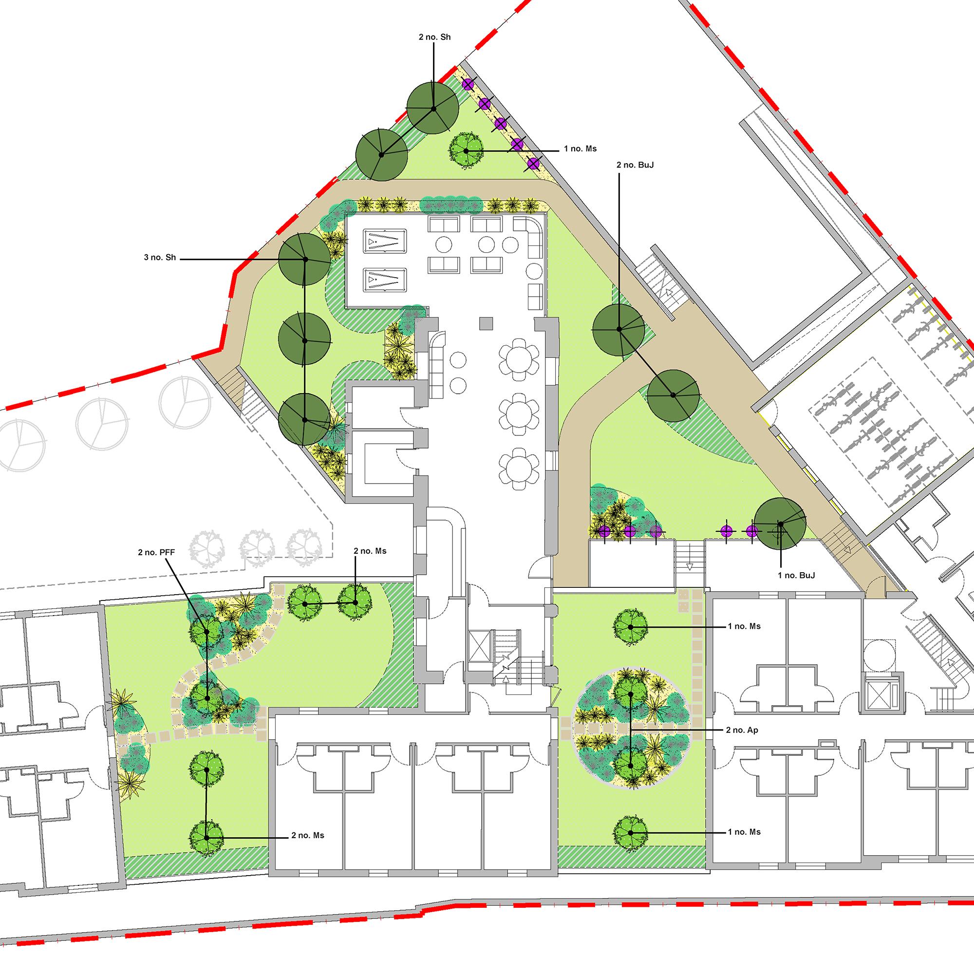 Student accommodation goods corner edinburgh vlm for Home landscape planting design and management