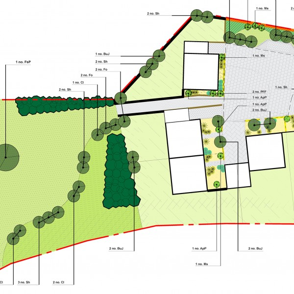 Detailed Planting Plan (South)